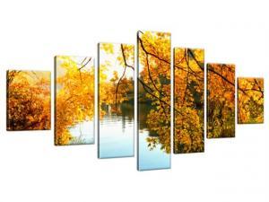 Obraz na plátne Jeseň a rieka 210x100cm 1293A_7A