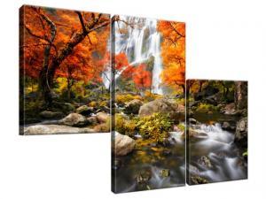 Obraz na plátne Jesenný vodopád 90x60cm 2335A_3L