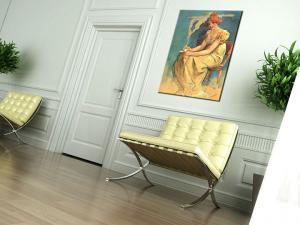 Obraz na plátne KÁVA – Alfons Mucha REP094