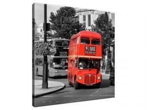 Obraz na plátne Poschodový londýnsky autobus 30x30cm 496A_1AI