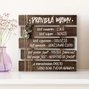 Obraz na stenu - Pravidlá mamy