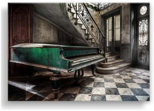 Obraz Styler Canvas Silver Uno Piano, 85×113 cm