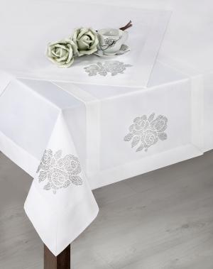 Obrus 150X220 cm - Eurofirany - Sofia (biela) (1 ks). Akcia -10%. Sme autorizovaný predajca Eurofirany.
