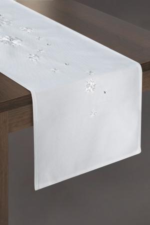 Obrus 33X140 cm Rene1 (biela) (1 ks)