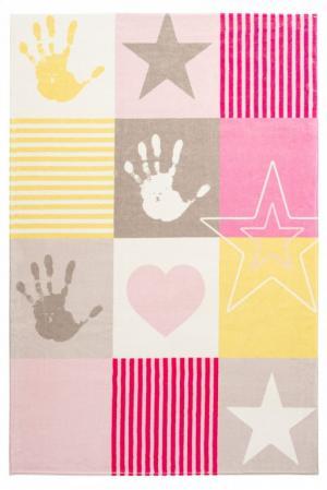 Obsession koberce Dětský kusový koberec Stars 411 pink - 160x230 cm
