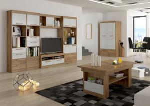 Obývacia stena Maximus WIP 3 Farba: Craft tobaco / craft zlatý