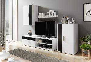 Obývacia stena - Renar - Berno (biela + čierna). Sme autorizovaný predajca Renar.