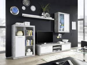 Obývacia stena Kibu (s LED osvetlením)