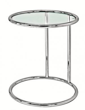 Odkladací prístavný stolík Vizio, kov/sklo