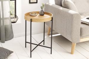 Odkladací stolík Factor 43 cm dub