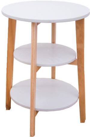 Odkladací stolík KASE biela / prírodná Tempo Kondela