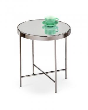Odkladací stolík MIRA sklo / chróm Halmar Strieborná