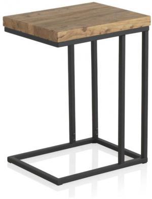 Odkladací stolík s doskou z brestového dreva Geese Lorena
