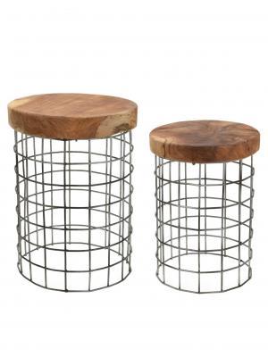 Odkladacie stolíky Riset okrúhle, 30 cm, súprava 2 ks
