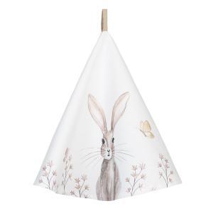 Okrúhla utierka s motívom zajačika Rustic Easter Bunny - Ø 80 cm