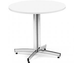 Okrúhly jedálenský stôl Sanna, Ø 900 x V 720 mm, biela / chróm
