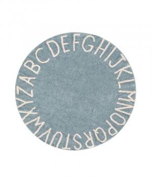 Okrúhly koberec  abeceda ABC Blue