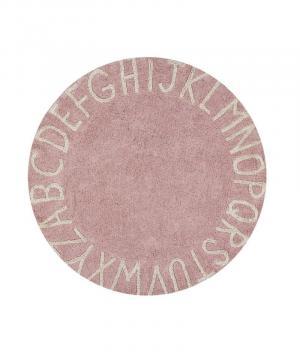 Okrúhly koberec  abeceda ABC Pink-Natural