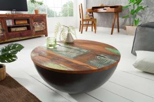 Okrúhly konferenčný stolík Jacktar 70cm sivý