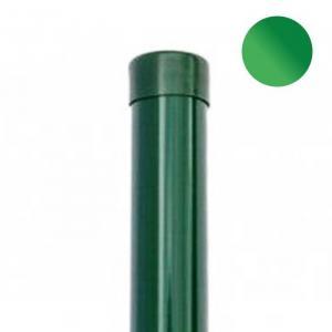 Okrúhly stĺpik zelený 48 mm - STANDARD  (vrátane čiapočky) OKRÚHLY stĺpik 48mm, výška:2.5m