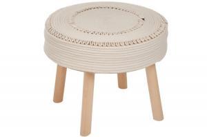 Okrúhly taburet s mušľami - Ø45 * 38cm