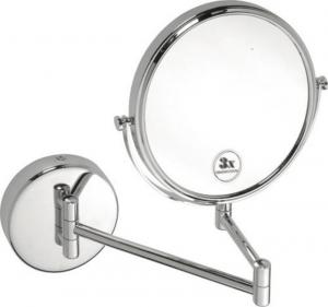 Omega 112201512 závesné kozmetické zrkadlo bez osvetlenia, priemer 200mm, chróm