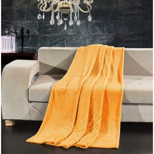 Oranžová deka z mikrovlákna DecoKing Henry, 170 x 210 cm