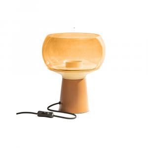 Oranžová kovová stolná lampa BePureHome, výška 28 cm