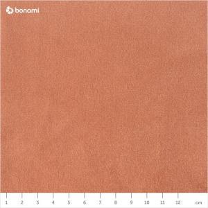 Oranžová zamatová lavica EMKO Naive, 100 cm