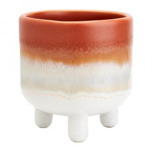 Oranžovo-biely kvetináč Sass & Belle Bohemian Home Mojave, ø 7,5 cm