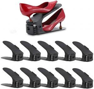 Organizér na topánky čierny, sada 10ks