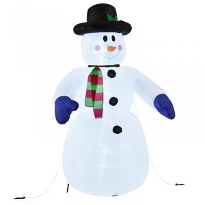 Osvetlený snehuliak 240 cm, nafukovací