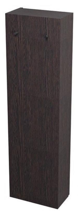 Otočená skriňa vysoká KALI, 40x140x20cm, úzka, wenge - Pravá