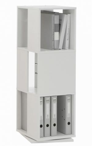 Otočný regál Tower, biely
