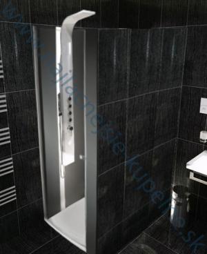 Otváracie dvere do sprchového kútu Aquatek GLASS B1 - 70 / čire / Silver