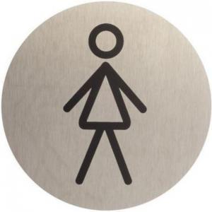 Označenie WC dámske inox