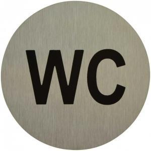 "Označenie ""WC"" inox"
