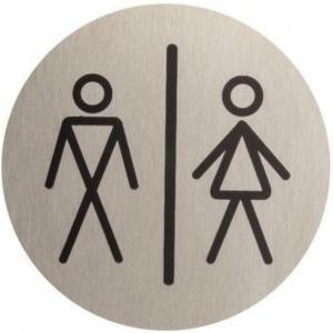 Označenie WC pánske/dámske inox