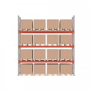 Paletový regál Ultimate, základná sekcia, 16 paliet, 4000x3600x1100 mm