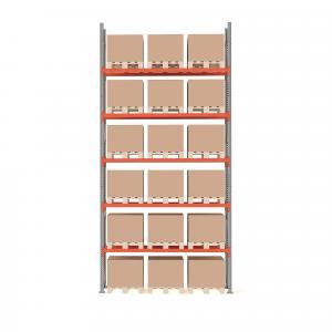 Paletový regál Ultimate, základná sekcia, 18 paliet, 6000x2750x1100 mm