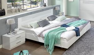 PALOMA 143 S06 manželská posteľ 140x200 cm a 2 nočné stolíky