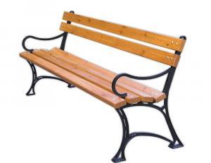 Parková lavica s opierkami