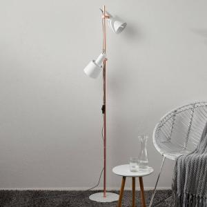 Paulmann Paulmann Haldar stojaca lampa 2-pl., biela/medená