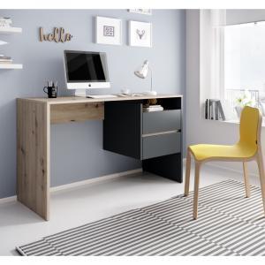 PC stôl, dub artisan/grafit, TULIO