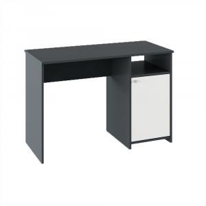 PC stôl, grafit/biela, DEDE