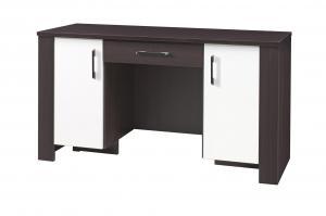 PC stolík - Camber - C17 (milano + krémová) (so zásuvkou). Akcia -34%.