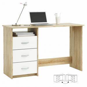 PC stolík Taula 101000 (Dub Sonoma+biela) (L/P)
