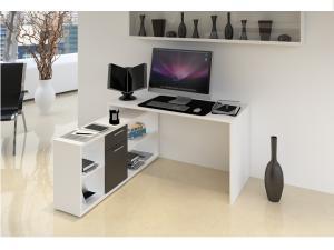 PC stolík Norrix (biela + čierna)