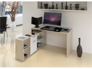 PC stolík Norrix (dub wotan + biela)