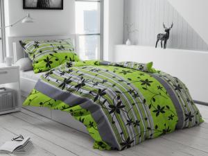 Petr Smolka Krepové obliečky Liana zelená Rozmer obliečok: 2 ks 70x90 cm, 200x220 cm